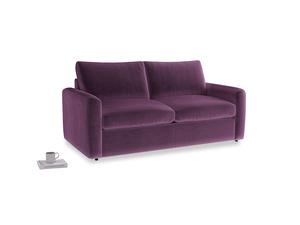 Chatnap Sofa Bed in Grape clever velvet with both arms