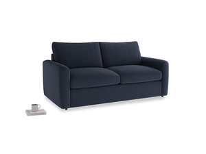 Chatnap Sofa Bed in Indigo vintage linen with both arms