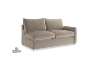 Chatnap Sofa Bed in Fawn clever velvet with a right arm