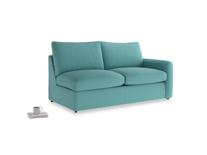 Chatnap Sofa Bed in Peacock brushed cotton with a right arm