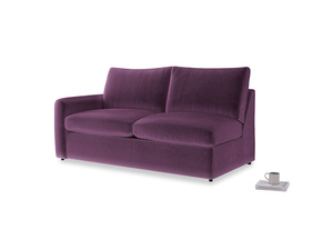 Chatnap Sofa Bed in Grape clever velvet with a left arm
