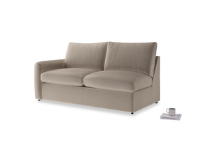 Chatnap Sofa Bed in Fawn clever velvet with a left arm