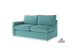 Chatnap Sofa Bed in Peacock brushed cotton with a left arm