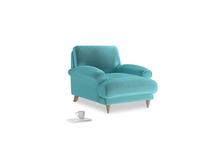 Slowcoach Armchair in Belize clever velvet