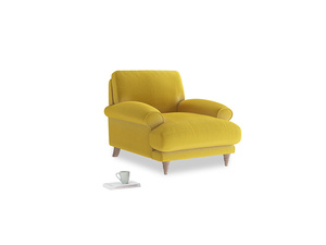Slowcoach Armchair in Bumblebee clever velvet