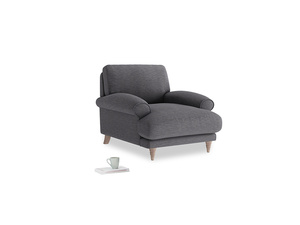 Slowcoach Armchair in Lead cotton mix
