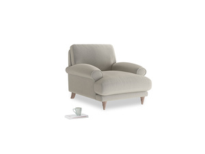 Slowcoach Armchair in Smoky Grey clever velvet