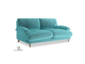 Medium Slowcoach Sofa in Belize clever velvet