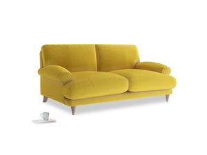 Medium Slowcoach Sofa in Bumblebee clever velvet