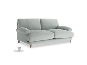 Medium Slowcoach Sofa in French blue brushed cotton
