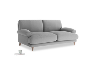 Medium Slowcoach Sofa in Magnesium washed cotton linen