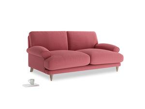 Medium Slowcoach Sofa in Raspberry brushed cotton