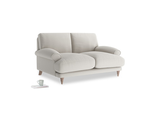 Small Slowcoach Sofa in Moondust grey clever cotton