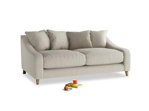 Medium Oscar Sofa in Thatch house fabric