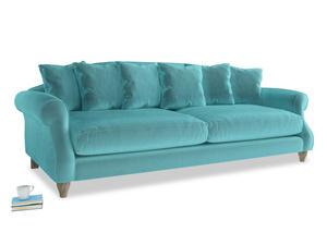 Extra large Sloucher Sofa in Belize clever velvet