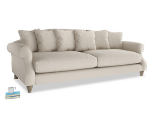 Extra large Sloucher Sofa in Buff brushed cotton