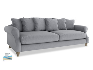 Extra large Sloucher Sofa in Dove grey wool
