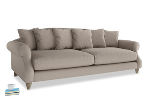 Extra large Sloucher Sofa in Driftwood brushed cotton