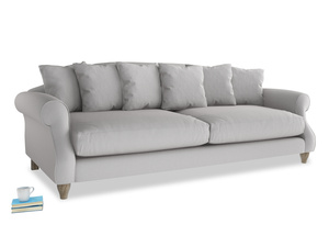 Extra large Sloucher Sofa in Flint brushed cotton