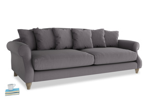 Extra large Sloucher Sofa in Graphite grey clever cotton