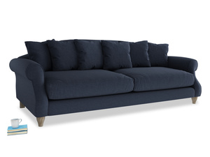 Extra large Sloucher Sofa in Indigo vintage linen