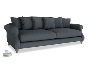 Extra large Sloucher Sofa in Lava grey clever linen