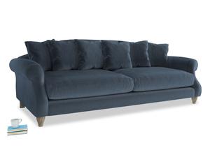 Extra large Sloucher Sofa in Liquorice Blue clever velvet