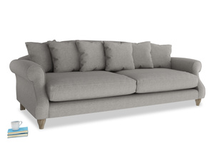 Extra large Sloucher Sofa in Marl grey clever woolly fabric