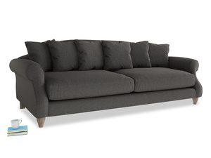 Extra large Sloucher Sofa in Old Charcoal brushed cotton