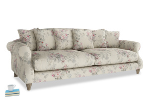 Extra large Sloucher Sofa in Pink vintage rose