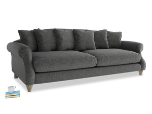 Extra large Sloucher Sofa in Shadow Grey wool