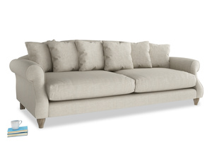 Extra large Sloucher Sofa in Thatch house fabric