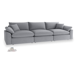 Large Cuddlemuffin Modular sofa in Dove grey wool