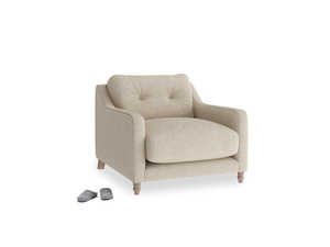 Slim Jim Armchair in Flagstone clever woolly fabric