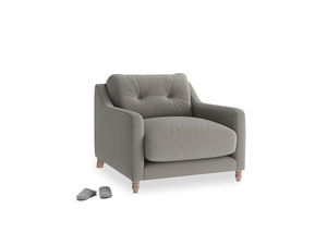 Slim Jim Armchair in Monsoon grey clever cotton