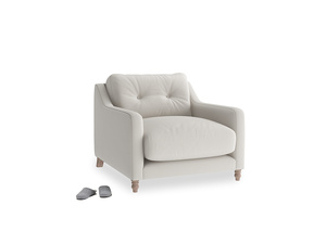 Slim Jim Armchair in Moondust grey clever cotton