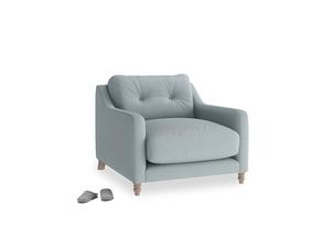 Slim Jim Armchair in Quail's egg clever linen