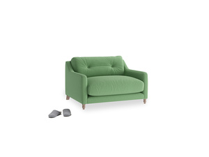 Slim Jim Love seat in Clean green Brushed Cotton