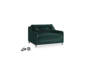 Slim Jim Love seat in Dark green Clever Velvet
