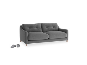 Small Slim Jim Sofa in Ash washed cotton linen