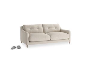 Small Slim Jim Sofa in Buff brushed cotton