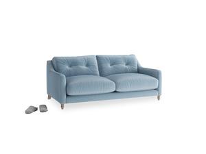 Small Slim Jim Sofa in Chalky blue vintage velvet