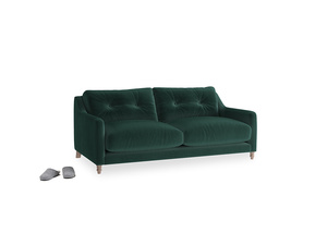 Small Slim Jim Sofa in Dark green Clever Velvet
