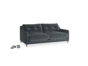 Small Slim Jim Sofa in Dark grey Clever Deep Velvet