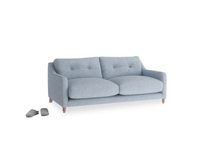 Small Slim Jim Sofa in Frost clever woolly fabric