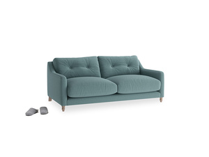 Small Slim Jim Sofa in Marine washed cotton linen