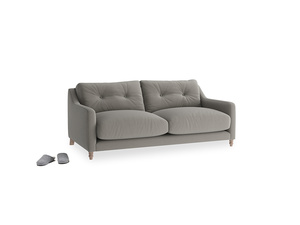 Small Slim Jim Sofa in Monsoon grey clever cotton