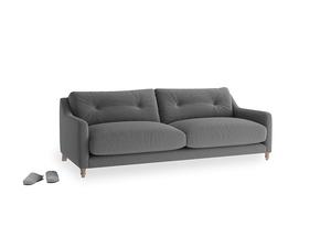 Medium Slim Jim Sofa in Ash washed cotton linen