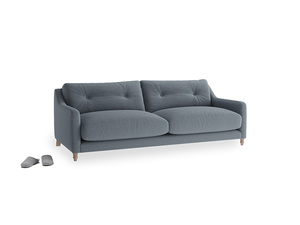 Medium Slim Jim Sofa in Blue Storm washed cotton linen