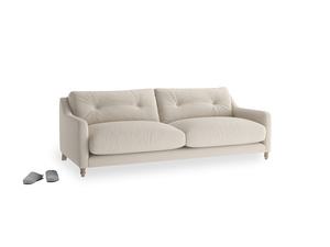 Medium Slim Jim Sofa in Buff brushed cotton